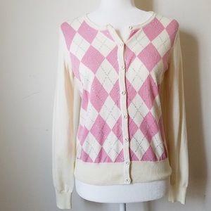 Talbots women's cardigan sweater sequins